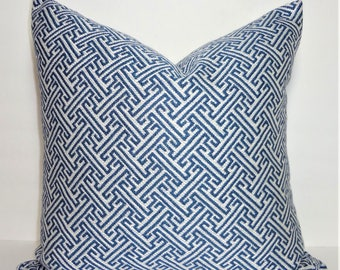 Beautiful Navy Cross Section Geometric Pillow Cover Choose Size