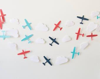 Airplane Garland - Paper Garland - Nursery Decoration
