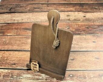 SALE Cookbook Stand, Cookbook Holder, Rustic Kitchen Decor, Recipe Holder, Farmhouse Style, Bridal Shower Gift, Tablet Holder, Mothers Day G