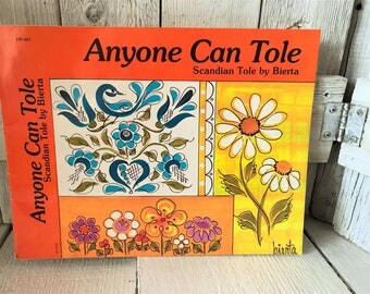 """Vintage craft book """"Anyone Can Tole"""" Scandian painting instructions projects by Bierta1976- free shipping US"""
