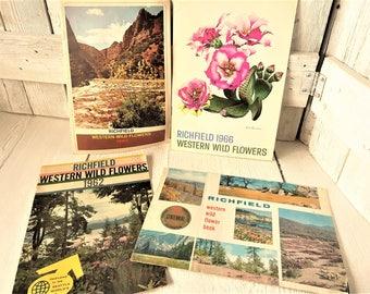 Vintage souvenir flower guidebook Richfield Western Wild  Flowers 1960s