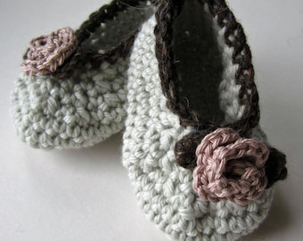 Rose Baby Bootee