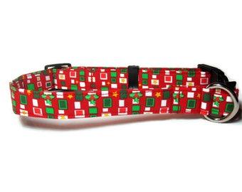 Christmas Dog Collar size Large