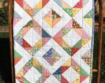 Toddler/Child's 1930's Reproduction Fabric Patchwork Quilt