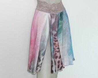 With Slit Circle Style Satin Skirt Argentine Tango  Skirt Size US 4 and 6 / EU 34 and 36  Milonga Dance Wear Tango adorable Jupe
