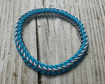 Turquoise Half Persian 3-in-1 Rubber Ring Bracelet