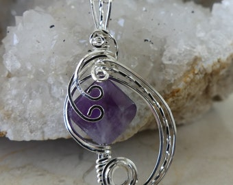 Amethyst Necklace, Amethyst Pendant, Amethyst, Sterling Silver Jewelry, Amethyst Jewelry, February Birthstone, Birthstone, Purple Necklace