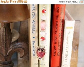 CIJ Owl Beaded Bookmark, Owl Metal Bookmark. Unique Beaded Bookmark, Gift for a Reader, Owl Lover Gift, Teachers Gift, OOAK Handmade Bookmar