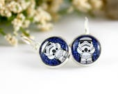 Stormtrooper Earrings -  Star Wars Jewelry - Star Wars Fan Gift Idea - Cute Nerd Earrings - Sci-fi Movie Jewelry - Geeky Gift for Her -