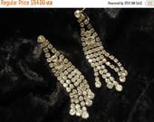 Now On Sale Art Deco Vintage Long Dangly High End Quality Rhinestone Juliana Style Earrings 1940's 1950's Retro Glamour Girl Style Jewelry