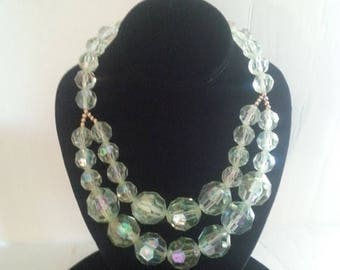 On Sale Chunky Beaded Necklace, Green Statement Necklace