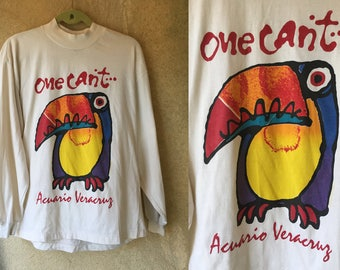TOUCAN Veracruz Bird Funky 80's Long Sleeved Shirt