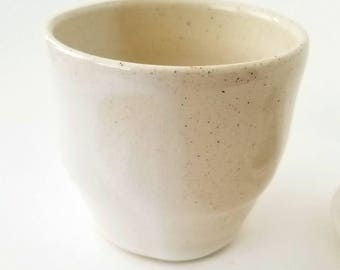 Minimalist Cup| Natural Handmade Tumbler | White Tableware #WVBT-2