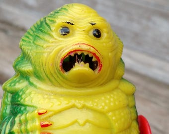 Vintage 1970s AHI Creature from the Black Lagoon Wind Up Toy Monster