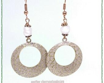 RTS Rose Gold Hoops Earrings last minute holiday gift guide dangle earrings long earrings dangle painted shampoo glass pink dainty custom