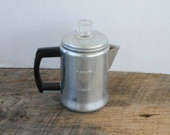 Vintage 2 Cup Stovetop Percolator Coffee Pot Enterprise