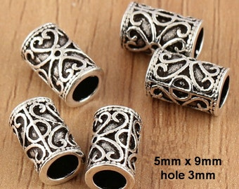 925 sterling beads, sterling silver tube,tube beads,mala beads,tubuli,Thai Silver beads, hill tribe silver tube beads,