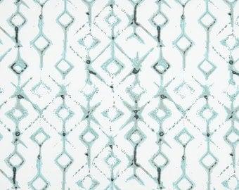 "Ready to Ship Blue Aqua Tribal Canal Curtain Panels 24"" Wide x 84"" Long Drapes Curtains"