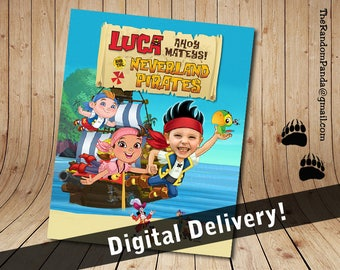 Personalize Kids Poster, BE Jake and the Neverland Pirates Party Poster