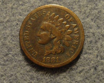 Vintage 1881 Indian Head Cent-Good