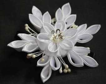 kanzashi Flocon de neige simple