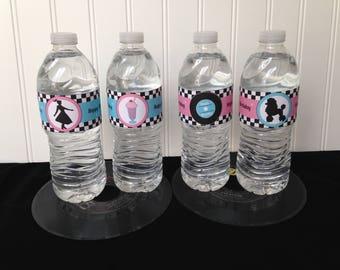 Sock Hop Birthday Party Water Bottle Label, DIY Printable File - INSTANT DOWNLOAD