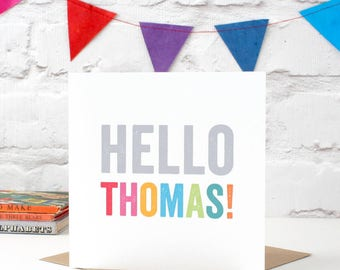 Hello...Personalised New Baby Card