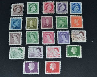 Canada 21 Mint stamps 1949-1960