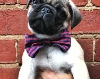 Custom Plaid Dapper dog or puppy bowtie
