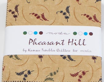 Pheasant Hill,  fabric collection by Kansas Troubles for Moda Fabrics - 1 Charm Pack