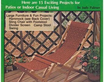 Macrame Pattern, Hammock Pattern, Divider Screen Pattern, Camp Stool Pattern Vintage Pattern