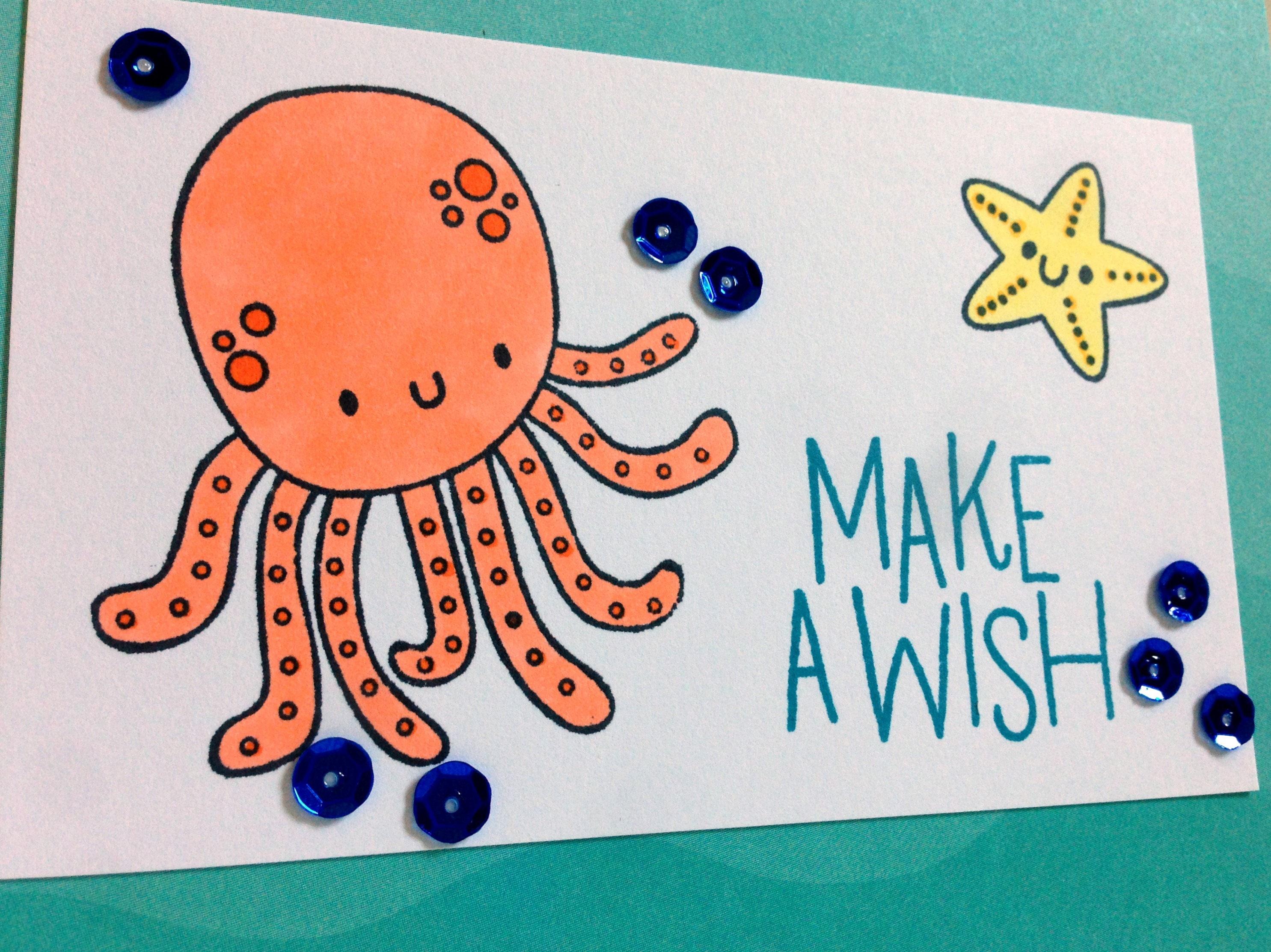 Under the Sea Card Octopus Card Little Boy Birthday Card Son