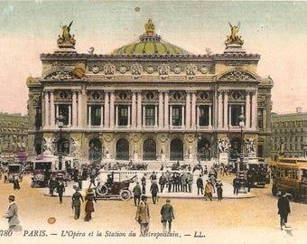 Paris Opera House Palais Garnier Antique French Postcard from Vintage Paper Attic