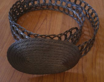 80s woven metal Greek belt