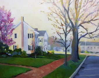 Early Morning on Main Street Landscape Oil Painting on Canvas