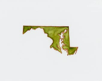 State of Maryland Map