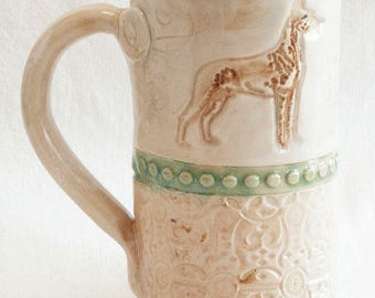 dog ceramic 20oz coffee mug stoneware 20D022