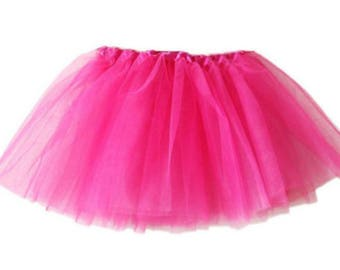 Hot Pink Tutu, Baby tutu, dance tutu, skirt,tulle skirt, tulle tutu,pink baby tutu,hot pink skirt, baby, girls