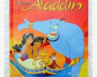 20% Summer SALE Walt Disney's Aladdin, 1990s Collectible Children's Book