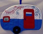 Vintage Trailer Happy Camper Mug Rug - Westie