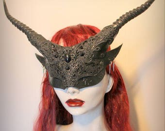 ON SALE veiled Goblin Witch mask