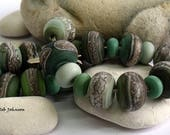Hedgerow Mix, Lampwork Beads, SRA, UK