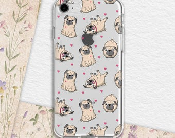 iphone case dog iphone case pug iphone case cute iphone case 6s iphone case 8 plus iphone case 7 plus Galaxy Note 8 case Galaxy s7 ACi_015