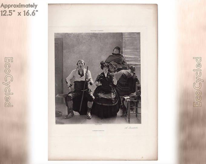 A Quartette by William T Dannat Antique Photogravure Print Goupil Vintage Paper Ephemera zyxG22