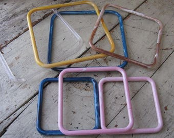 lucite purse handles marbella handles set of 7 assorted colors assorted sizes earth tones blues pink