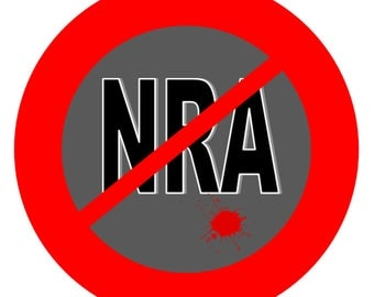 digital download postcard -- NO NRA, make your own t-shirts, postcards, cards, stickers