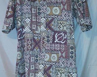 "BIG SUMMER SALE 70s Vintage Hawaiian Man Men Aloha Shirt-Rare-Reverse Print- Medium-Hawaii Collectors-Medium-42"" Chest"