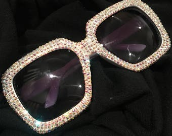 Irredescent crystal  sun glasses