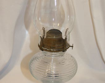 Vintage Queen Anne No. 2 Oil Burning Lamp, Scovill Mfg. Company, Made in USA