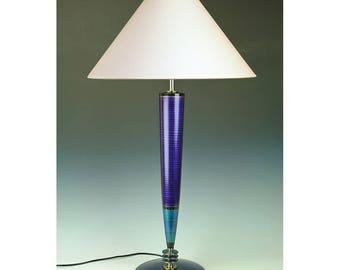 Purple Table lamp Art Deco Jetsons lamp Sky Captain  Mid Century Steam Punk High Desert Dreams Futuristic Googie Atomic tall lamp #284